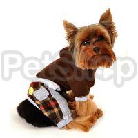 MonkeyDaze ДЖАМПЕР (brown flannel jumper) коричневый костюмчик, одежда для собак