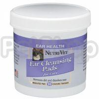Nutri-Vet ЧИСТЫЕ УШИ (Feline Ear Wipe) влажные салфетки для гигиены ушей котов