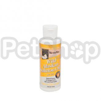 Nutri-Vet Salmon Oil НУТРИ-ВЕТ МАСЛО ДИКОГО ЛОСОСЯ витаминная добавка для шерсти кошек, жидкая, 118 мл