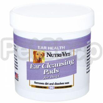Nutri-Vet ЧИСТЫЕ УШИ (Dog Ear Wipe) влажные салфетки для гигиены ушей собак