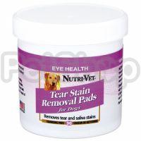 Nutri-Vet Tear Stain Removal dog НУТРИ-ВЕТ ОЧИСТКА ПЯТЕН влажные салфетки для собак, от пятен под глазами, вокруг пасти и на лапах, 90 шт.