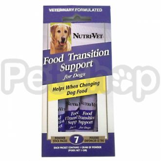 Nutri-Vet Food Transition Support НУТРИ-ВЕТ ПОМОЩЬ ПРИ СМЕНЕ КОРМА добавка для собак с пребиотиками и полезными бактериями, порошок, стик (1 г)