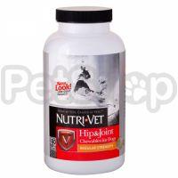 Nutri-Vet Hip&Joint Regular НУТРИ-ВЕТ СВЯЗКИ И СУСТАВЫ РЕГУЛЯР, 1 уровень, хондроитин и глюкозамин для собак, с МСМ, таблетки