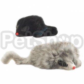 Pet Pro МЫШЬ ДЛИННОШЕРСТНАЯ с пищалкой игрушка для котов