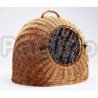 Pet Pro ИГЛО плетеная переноска для собак и котов, дерево