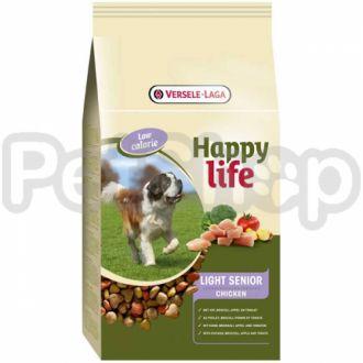 Happy Life ЛАЙТ СЕНЬОР с курицей (Light Senior Chicken) сухой премиум корм для собак