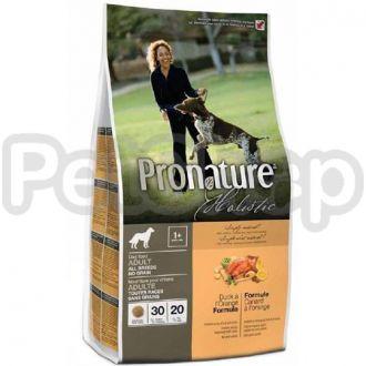 Pronature Holistic (Пронатюр Холистик) с уткой и апельсинами сухой холистик корм Без Злаков для собак