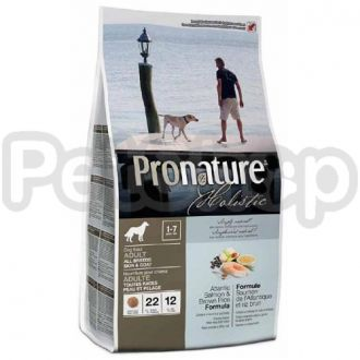 Pronature Holistic (Пронатюр Холистик) с атлантическим лососем и коричневым рисом сухой холистик корм для собак