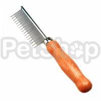 Safari Cat Shedding расческа с деревянной ручкой для собак и котов