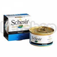 Schesir Tuna ШЕЗИР ТУНЕЦ натуральные консервы для кошек тунец с рисом, банка, 85 г