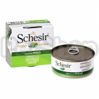 Schesir ФИЛЕ КУРИЦЫ (Chicken Fillet) консервы для собак, банка