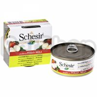 Schesir КУРИЦА С ЯБЛОКОМ (Chicken Аpple) влажный корм консервы для собак, банка