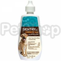 Sentry Earmite Free СЕНТРИ БЕЗ УШНОГО КЛЕЩА капли с алоэ против ушного клеща для собак