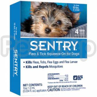 SENTRY Сентри капли от блох, клещей и комаров для собак весом до 7 кг