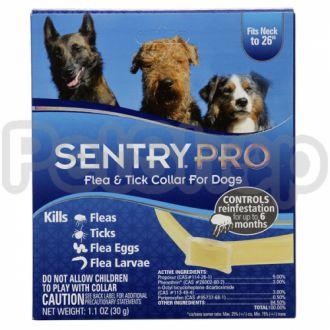 SENTRY SentryPro СЕНТРИ ПРО ошейник для собак от блох, клещей, яиц и личинок блох, 6 месяцев защиты