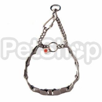 Sprenger NECK-TECH FUN строгий ошейник для собак, пластинчатый, с цилиндрическим карабином, нержавеющая сталь