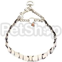Sprenger NECK-TECH FUN строгий ошейник для собак, пластинчатый, с карабином, нержавеющая сталь
