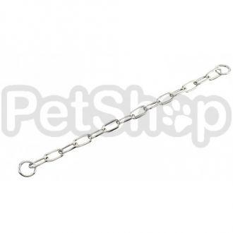 Sprenger Long Link ошейник для собак, широкое звено, 4 мм, хромированная сталь