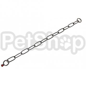 Sprenger Extra Long Link ошейник для собак, широкое звено, 4 мм, черная сталь
