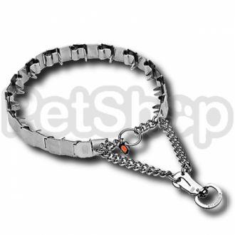 Sprenger NECK-TECH SPORT строгий пластинчатый ошейник удавка с карабином, нержавеющая сталь