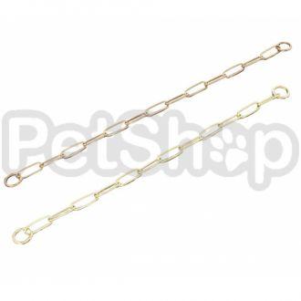 Sprenger Long Link ошейник-цепь для собак, широкое звено, 3 мм, полированная латунь