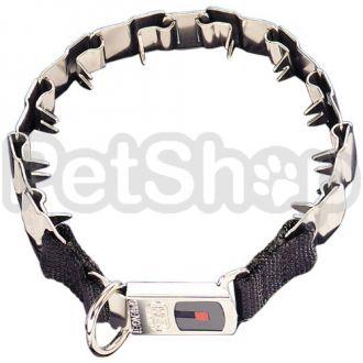 Sprenger NECK-TECH SPORT строгий пластинчатый ошейник удавка для собак, с карабином, нержавеющая сталь