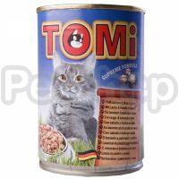 TOMi ЛОСОСЬ ФОРЕЛЬ (salmon&trout) консервы корм для кошек, банка