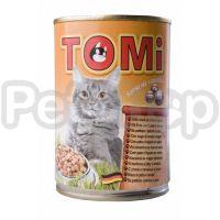 TOMi УТКА ПЕЧЕНЬ (duck&liver) консервы корм для кошек, банка