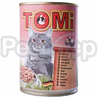 TOMi МЯСО (veal) консервы корм для кошек, банка