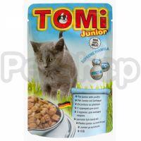 TOMi ДЛЯ КОТЯТ (junior) консервы корм для кошек, пауч