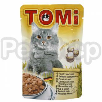 TOMi ПТИЦА КРОЛИК (poultry, rabbit) консервы корм для кошек, пауч