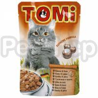 TOMi ГУСЬ ПЕЧЕНЬ (goose, liver) консервы корм для кошек, пауч