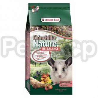 Versele-Laga Nature ШИНШИЛЛА НАТЮР РЕ-БАЛАНС (Chinchilla Nature ReBalance) смесь-мюсли супер премиум корм для шиншилл