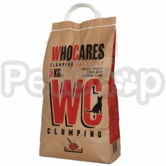 WC ВИСИ КОМКУЮЩИЙСЯ (WhoCares Clumping) комкующийся наполнитель в кошачий туалет