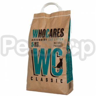 WC ВИСИ КЛАССИК (WhoCares Classic) впитывающий наполнитель в кошачий туалет, без запаха