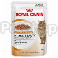 Royal Canin Intense Beauty in Jelly (роял канин бьюти Полнорационный влажный корм для кошек с чувствительной кожей или проблемной шерстью  (тонкие кусочки в желе))