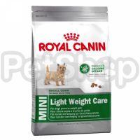Royal Canin Mini Light Weight Care( роял канин для мелких пород собак, которые имеют избыточный вес)