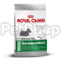 Royal Canin Mini Dermacomfort (сухой корм для собак мелких размеров  (вес взрослой собаки до 10 кг) старше 10 месяцев с раздраженной и зудящей кожей)