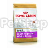 Royal Canin West Highland White Terrier Adult ( Полнорационный корм для собак породы вест-хайленд-уайт-терьер в возрасте от 10 месяцев)