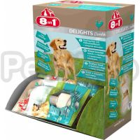 8in1 Europe Delights Dental XS (  из гровяжей кожи и куриногро мяса)
