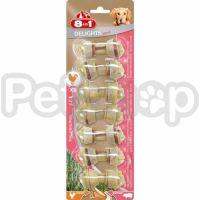 8in1 Europe Delights Pork XS ( кости для чистки зубов из свиной кожи с мясом курици для собак малых пород)