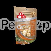 8in1 Europe Delights Bones Chicken Bag XS ( из гровяжей кожи и куриногро мяса)