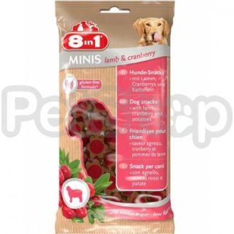 8in1 Europe MINIS Lamb & Cranberry (лакомство для собак с ягрненком и клюквой)