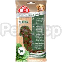 8in1 Europe MINIS Lamb & Spinach (  лакомство с ягрненком и шпинатом, имеющее низкое содержание жира)
