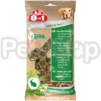 8in1 Europe MINIS Rabbit & Herbs ( лакомство для собак с кроликом и травами)