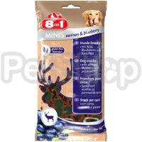 8in1 Europe MINIS Venison & Blueberry ( лакомство с олениной и черникой, имеющее низкое содержание жира)