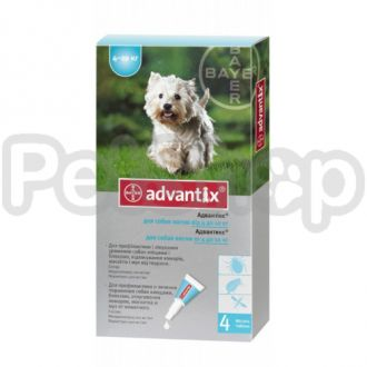 Bayer Advantix ( Адвантикс) для собак от блох и клещей