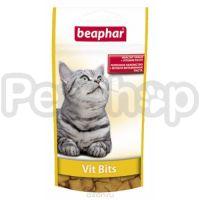 Beaphar Vit-Bits ( Хрустящие подушечки с витаминной пастой, восполняют недостаток витаминов в организме кошки)