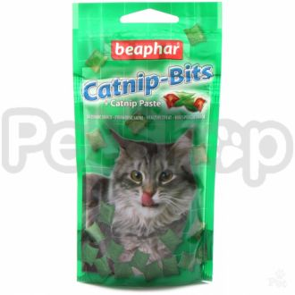 Beaphar Catnip-Bits ( Полезное лакомство для кошек в виде хрустящих подушечек, начиненных кошачьей мятой)