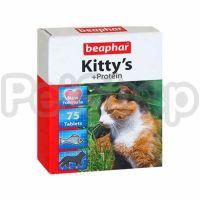 Beaphar Kitty's Protein ( Витамины в виде лакомства с протеином и вкусом рыбы  (треска не менее 4%) для кошек)